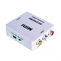 Конвертер AV в HDMI (3 гнездп RCA (IN) - гнездо HDMI (OUT))