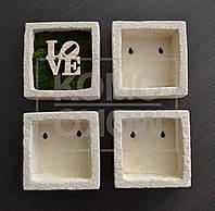 Интерьерная декоративная рамка-горшок  для выращивания сукулентов, травы и мха