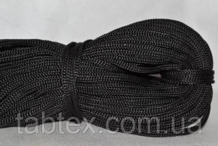 Шнуры вязанные  4 мм 90 м(0,280-0,290кг) .черный