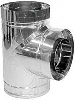 Тройник для дымохода нерж/нерж Версия Люкс 87° D-200/260 мм толщ. 1 мм