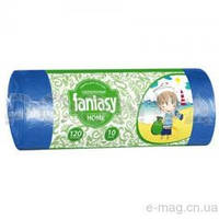 """Пакеты для мусора """"Fantasy Home"""" 120л. 10шт сверхпрочные синие"""