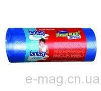 """Пакеты для мусора """"Fantasy Home"""" 60л. 40шт сверхпрочные синие"""