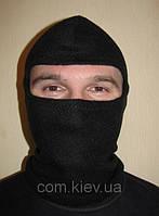 Шапка-маска из флиса черная