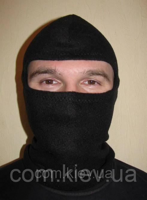 Шапка-маска из флиса черная, фото 1