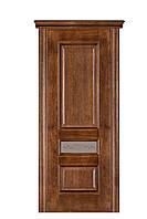 Двери  Терминус  №53 дуб браун, даймон  (витраж, глухая)