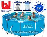 Круглый каркасный бассейн Bestway Steel Pro, арт. 56260, размер 366x100 см, фото 6