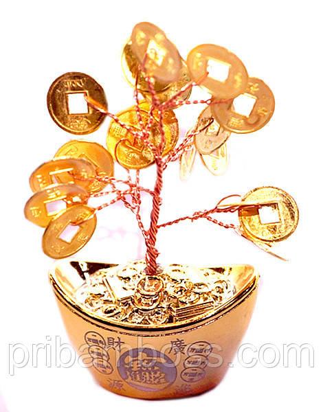 Дерево с золотыми монетами в чаше изобилия 10 см.