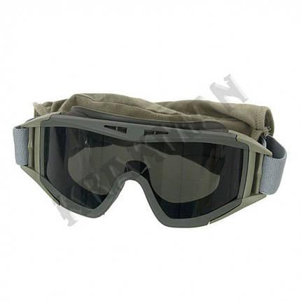 Очки защитные DESERT LOCUST - олива ||M51617060-OD, фото 2