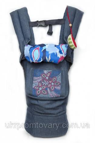 """Слинг Эргономичный рюкзак-переноска """"My baby"""" синий джинс, фото 2"""