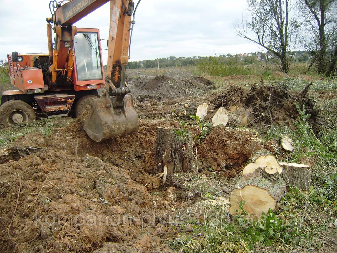 Корчевание деревьев Удаление пней деревьев