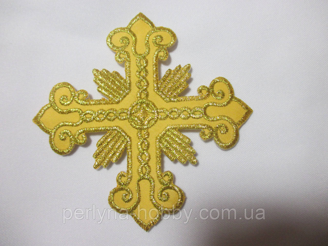 Хрест для церковного одягу малий 6х6 золото