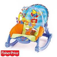 Кресло-качалка Fisher-price — это одновременно и качели, и колыбель, и место для игр малыша.
