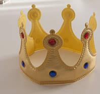 Корона на голову Царь мягкая СЕРЕБРО