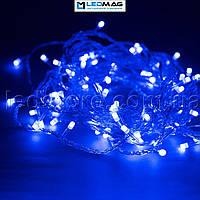 Светодиодная гирлянда Нить 100LED синий 8м