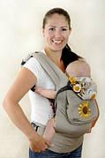 """Эргономичный рюкзак """"My baby"""" Подсолнухи"""