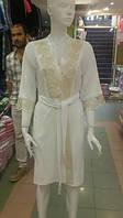 Nusa женский домашний бамбуковый халат с кружевной отделкой