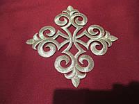 Хрест для церковного одягу середній (алікаця клейова) 12х12 срібло