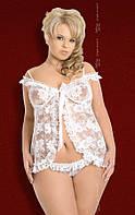 Пеньюар - Erika, Plus Size, white, XXL