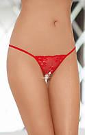Женские стринги - String 2322, red, S-L