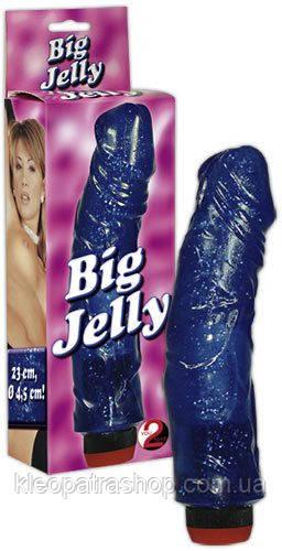 """Реалистичный вибратор - Big Jelly Blue - интернет магазине интимных товаров """"Cleopatra"""" в Луцке"""