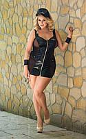 Ролевой костюм строгой полисменки- Police - black, 2XL 186219