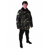 Бушлат камуфлированный, зимняя утепленная куртка, рабочая