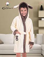 Красивый теплый детский халат COCOON.