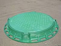Канализационный люк-обечайка зелёный 1т
