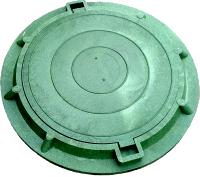 Канализационный люк-обечайка зелёный 4,5т