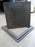Канализационный люк-обечайка чёрный квадратный 1,5т