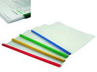 Папка с планкой-прижимом А4 AX1417 (пласт, прозр)