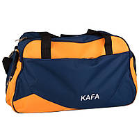 Сумка дорожная спорт KAFA V009 blue/orange medium