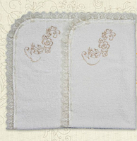 Крыжма для крещения Квіточка с вышивкой Махра  80х90 см Бетис