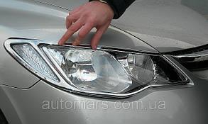 Накладки на передние фары Honda Civic (sedan)