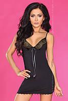 Облегающая черная сорочка Fantasia TM Livia Corsetti (Польша)