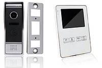 Видеодомофон цветной под SD Green Vision GV-051-J-VD4SD White вызывная панель GV-002-J-PV80-110