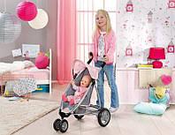 Коляска трехколесная с козырьком для куклы Baby Born Zapf Creation 821367