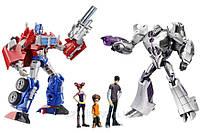 Эксклюзив! Игровой комплект трансформеров Прайм Хасбро Optimus vs Megatron + DVD