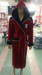 Бамбуковый халат  красный