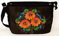 Женская стеганная сумочка Три цветка, фото 1