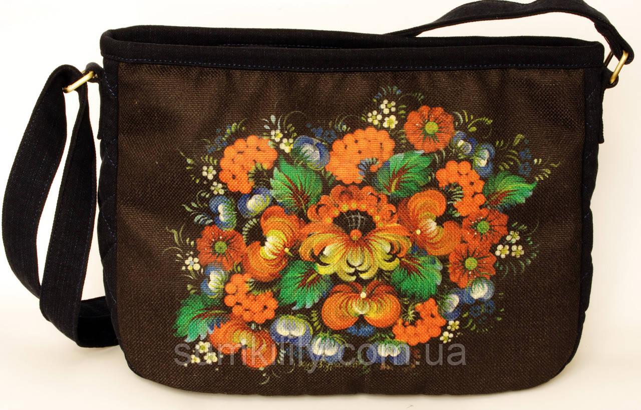 Женская стеганная сумочка Букет, фото 1