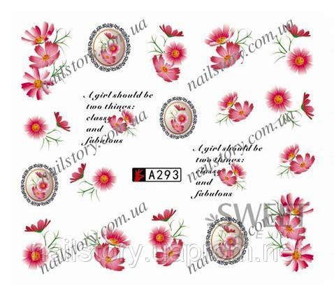 Водные наклейки для ногтей A293, фото 2