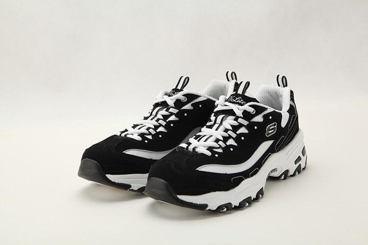 Кроссовки в стиле Skechers D Lites - Biggest Fan Black White женские -  Интернет 4d4684b9856