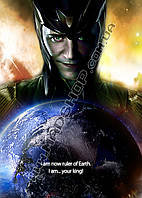 Картина 40х60см Локи Loki весь мир