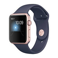 Apple Watch Sport Series 2 42mm Rose Gold Aluminum Case with Midnight Blue Sport Band