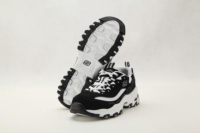 Кроссовки в стиле Skechers D Lites - Biggest Fan Black White женские ... eb33fc0204d