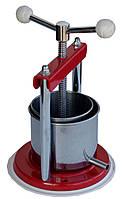Ручной пресс для винограда PF 12 вместимость 1,3 литра, d=12 см, н=12 см, нерж. Сталь, Италия