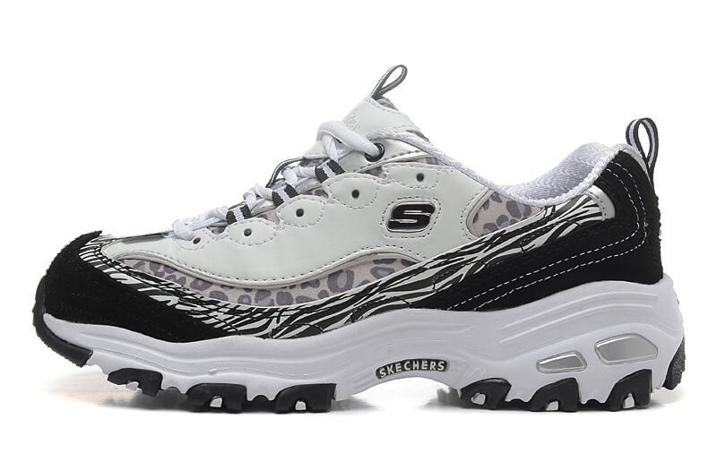 c074546c9dc4 Кроссовки в стиле Skechers D Lites - Biggest Fan White Black Grey женские