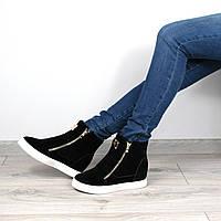 Ботинки женские Lady теплая зима 39 размер черные, зимняя обувь