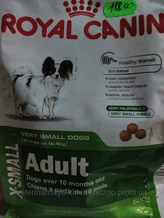 Royal Canin(X-small adult) корм для собак мини пород  от10 мес до  8 лет.500г,1.5кг,3 кг., фото 2